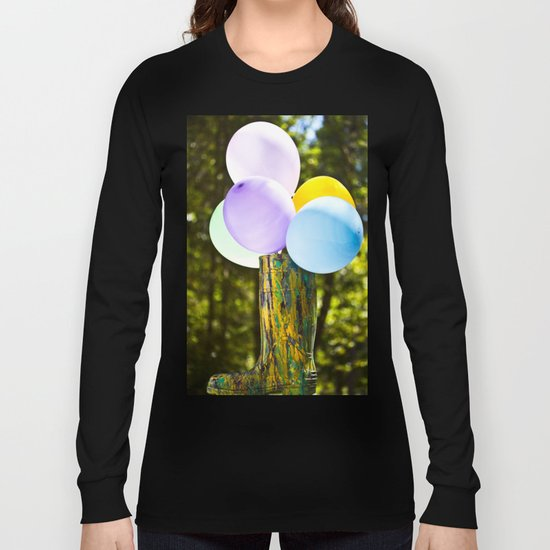 Boot And Balloons Long Sleeve T-shirt