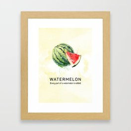Fun with Fruits - Watermelon Framed Art Print