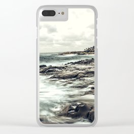The Whispering Tide Clear iPhone Case
