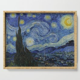 The Starry Night by Vincent van Gogh Serving Tray