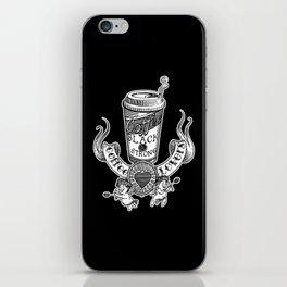 Coffee Lovers (black version) iPhone Skin