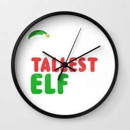 World's Tallest Elf - Christmas Wall Clock