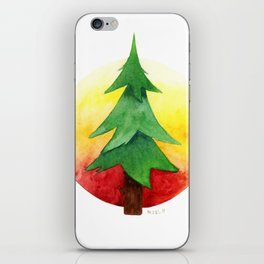 The Pine Guard Watercolor Logo iPhone Skin