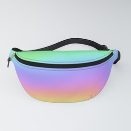Holographic Foil Colorful Gradient Pattern Fanny Pack