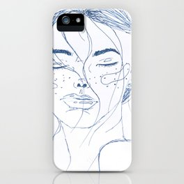Starry high - white and blue iPhone Case