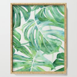 Monstera Leaf Pattern Serving Tray