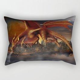 Dragon Attack Rectangular Pillow
