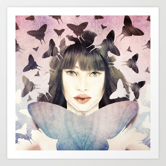 The Time of Butterflies Art Print
