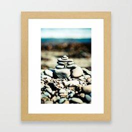Inukshuk on Wellington Beach 2 Framed Art Print