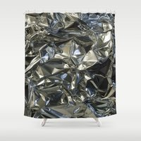 metallic Shower Curtains featuring Metallic by Shannice Wollcock