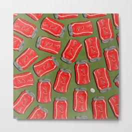Lotta Cans! (Green Bg) Metal Print