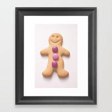 GingerBread Man Framed Art Print