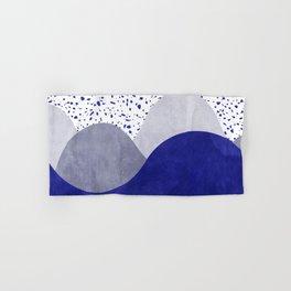 Terrazzo galaxy wave blue grey white Hand & Bath Towel