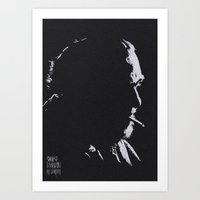 bukowski Art Prints featuring Charles Bukowski by The Art Warriors