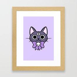 Three Eyed Kitty Framed Art Print