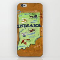 indiana iPhone & iPod Skins featuring INDIANA by Christiane Engel
