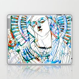 Glass stain mosaic 9 - Virgin Mary, by Brian Vegas Laptop & iPad Skin