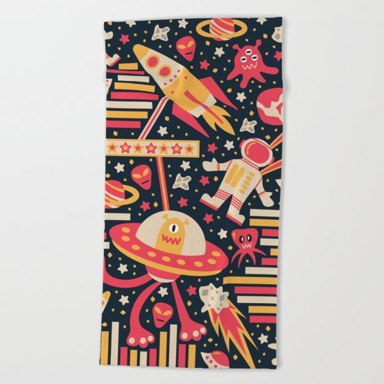 Alien Patterns Beach Towel