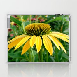 Yellow Echinacea/Coneflower Sideview Laptop & iPad Skin