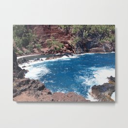 Red Sand Beach on Maui Metal Print