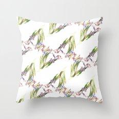 Dying Iris Throw Pillow