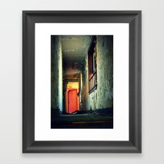 Down the hall Framed Art Print