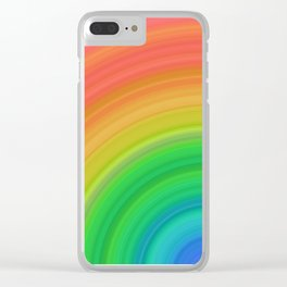 Bright Rainbow | Abstract gradient pattern Clear iPhone Case