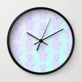 Lucky Lola Pattern Wall Clock