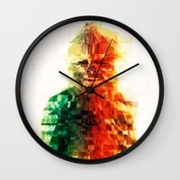 chewbacca Wall Clocks featuring Chewbacca by Tom Johnson