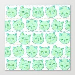 Exotic shorthair cat pattern Canvas Print