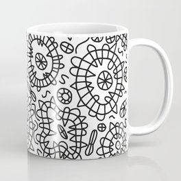 Squiggle Doodle in Black and White Coffee Mug