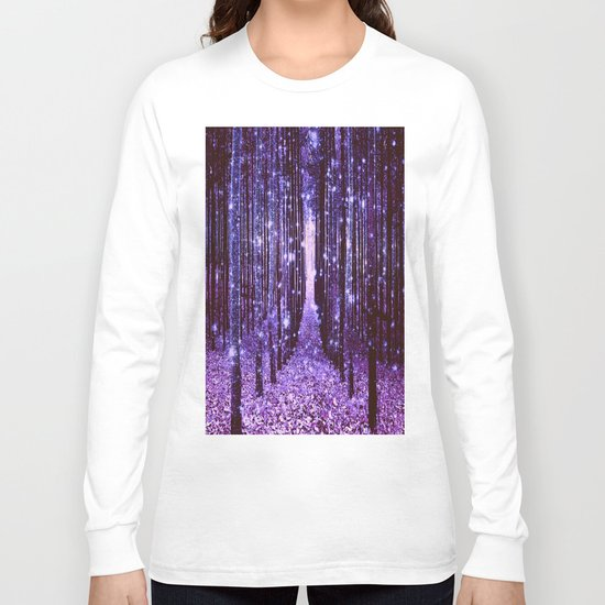 Magical Forest Purple Long Sleeve T-shirt