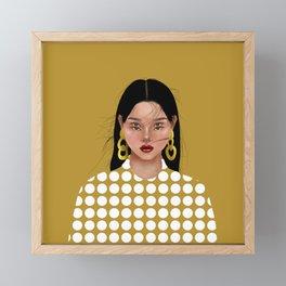 Polka Dots Framed Mini Art Print