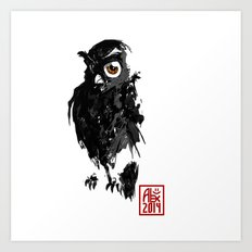 Hibou / Owl Art Print