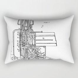 M16 Rifle Patent - Military Rifle Art - Black And White Rectangular Pillow
