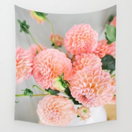 Coral Dahlias 02 Wall Tapestry
