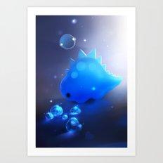crystal dino Art Print