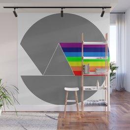 Rainbow made of light Wall Mural