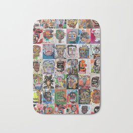 Basquiat Faces Montage Bath Mat