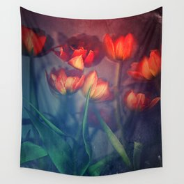 Orange Tulips Wall Tapestry