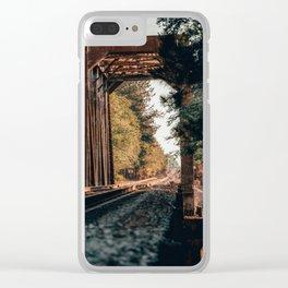 Train Bridge Clear iPhone Case