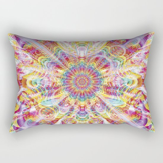 Psychedelic Soiree Rectangular Pillow