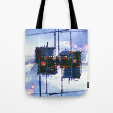 America ducking the question of origins (35mm multiple exposure) Tote Bag