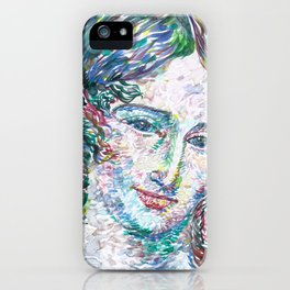 MARY SHELLEY watercolor portrait.2 iPhone Case