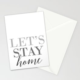 Let's stay home, scandinavian design (3) Stationery Cards