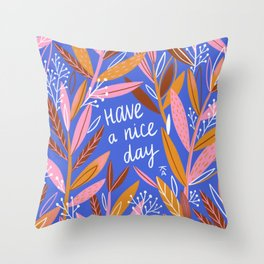Spring inspirational branches.  Throw Pillow