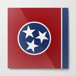 Tennessee: Tennessean Flag Metal Print