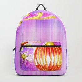 Oriental lantern Purple sky Backpack