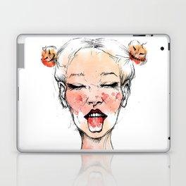 Happy Halloween Pumpkin Hair Buns Laptop & iPad Skin