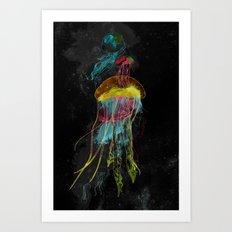 Electric Fins Art Print